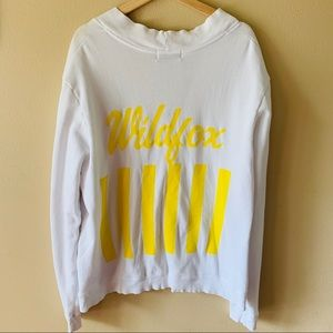 Wildfox one size cardigan yellow lettering logo